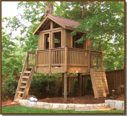 Atlanta treehouse photo gallery for Garden design kits